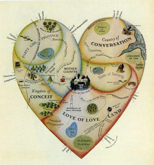 Mapa del amor en Terrritorio del Amor en almayogavida.com/homepage-1